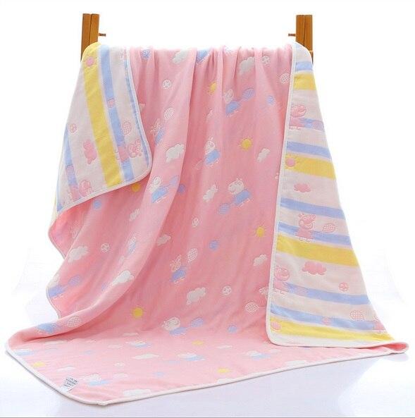 Dziecko grube 6 warstwy gazy muślin bawełna koc jakości noworodka - Pościel - Zdjęcie 5