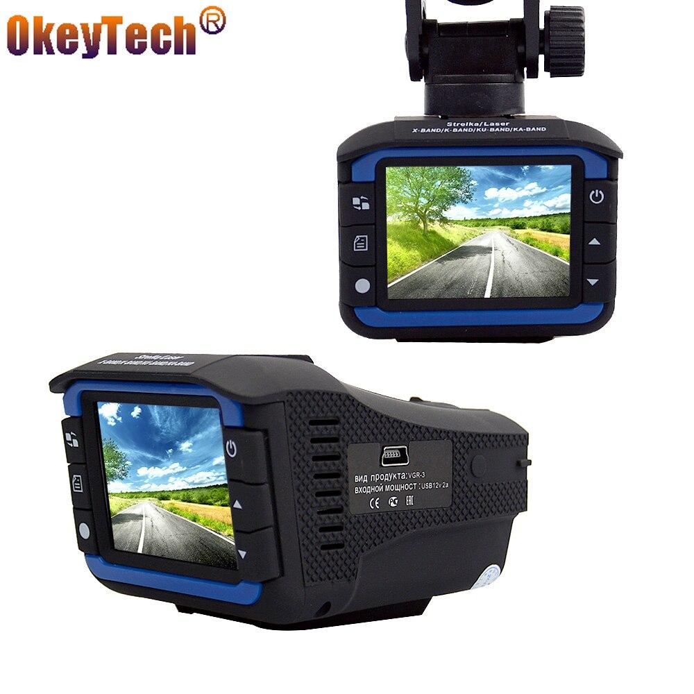 Okeytech Best качество Видеорегистраторы для автомобилей Антирадары 2 в 1 автомобиль-детектор Камера анти Антирадары русский и английский версия