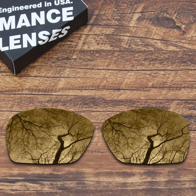 965879d9616 ToughAsNails Polarized Replacement Lenses for Oakley Plaintiff Squared  Sunglasses Peach Gold Color (Lens Only)