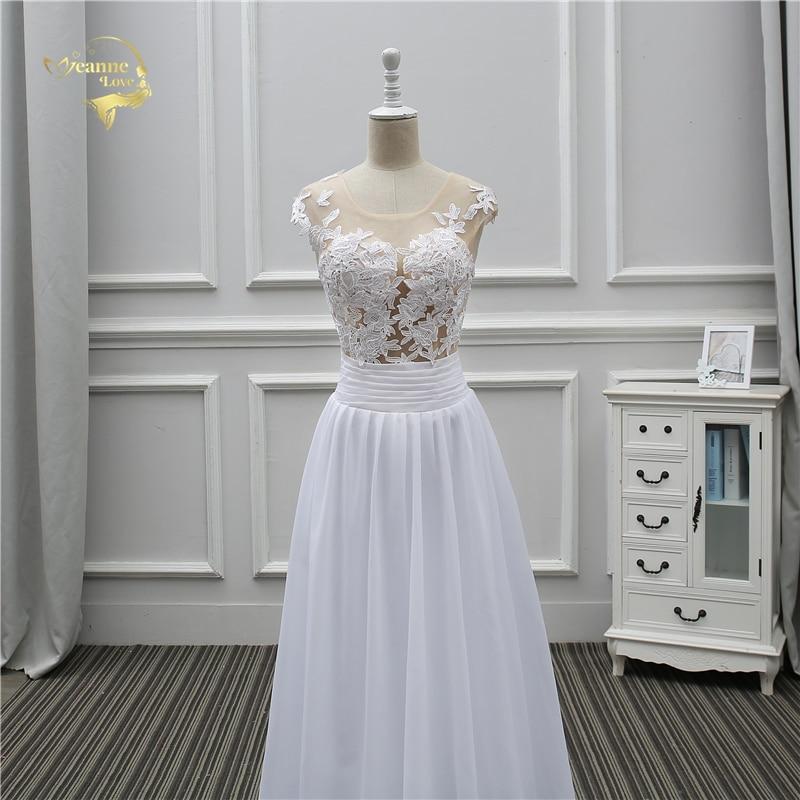 Jeanne Love Sexy Lace White Beach Wedding Dresses 2018 Newest Perspective Robe De Mariage JLOV75982 Vestido De Noiva Trouwjurk 6