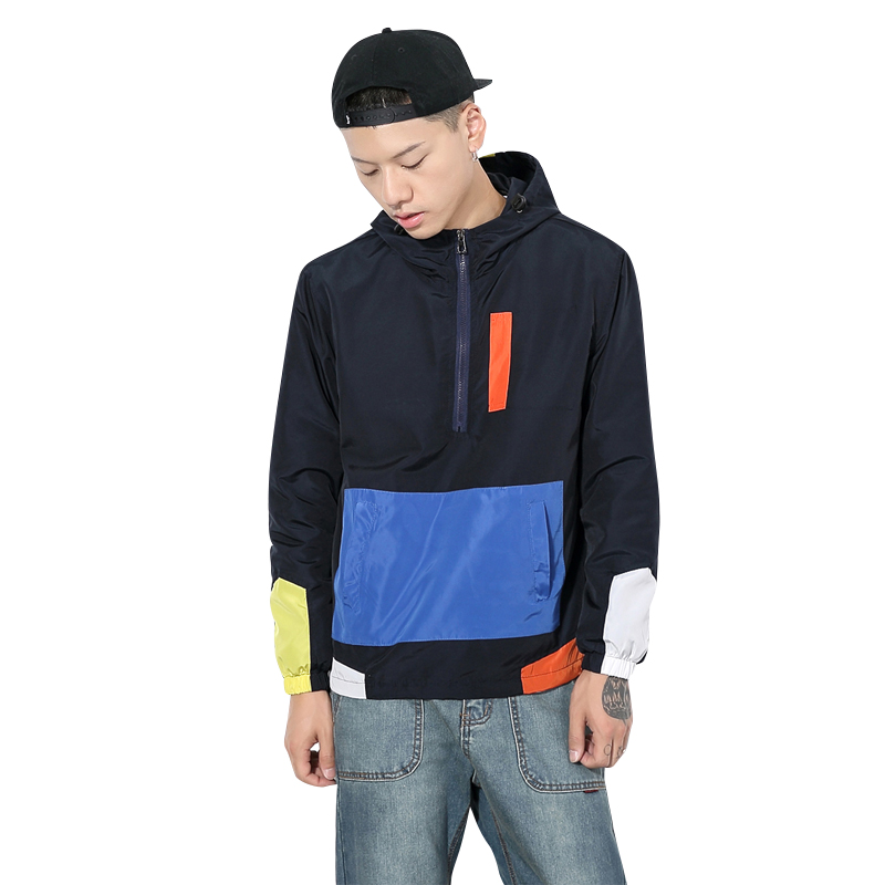 Spring &Autumn Male Hoddies Polyester with High Quality Mens Outwear Fashion Hooded Jacket Plus Size M-5XL