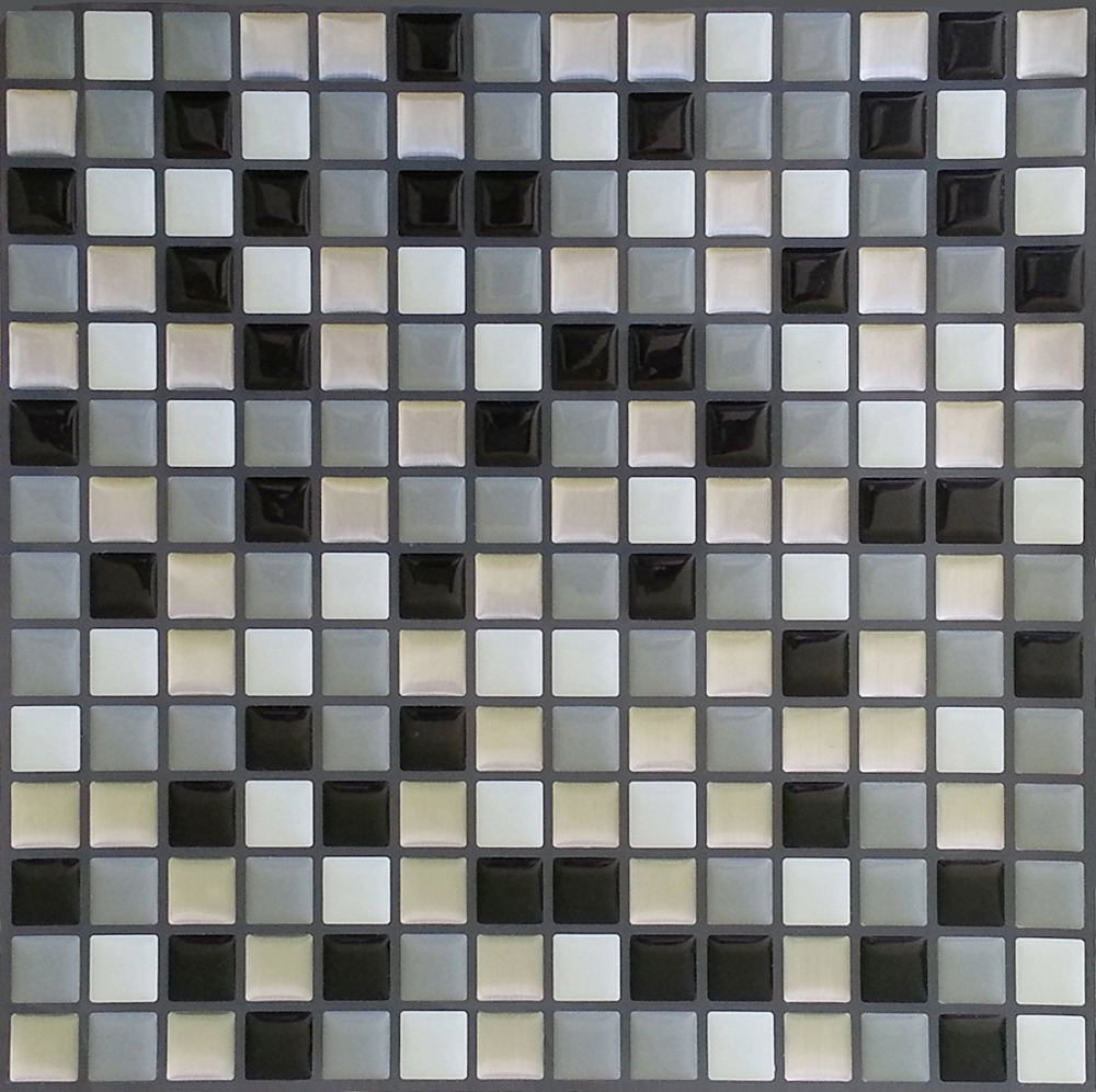 Backsplash Tile for Kitchen Marble Square Peel and Stick Tile, Adhesive Vinyl Wall Tiles, Urban Mosaic 10