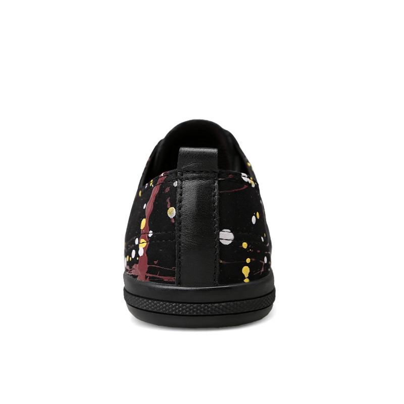 Dos Do Sapatos Superior Tesouras 46 Camada Casuais De Antiderrapantes Bordo 36 Dot Homens Designe Genuína Preto Confetti Verão Couro Leve Baixo Estudante wOIY5xx