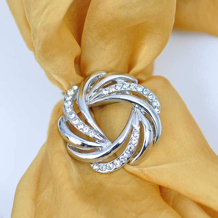 Elegant Silk Scarf Buckle for Women
