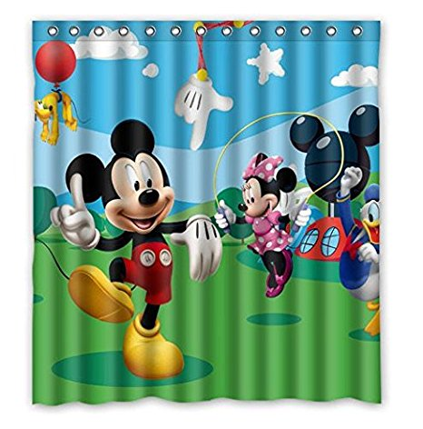 Mickey Mouse Cartoon Seri Customized 160x180cm Waterproof Shower Curtain  Bathroom Curtains Home Decors(China (