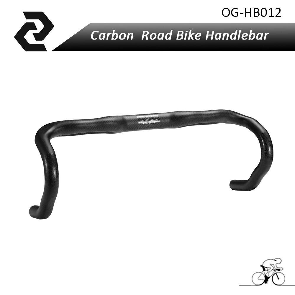 OG-EVKIN full carbon handlebar carbon bike road handlebars bent bar 3k glossy/matte finish 40/42/44cm inner cable routing