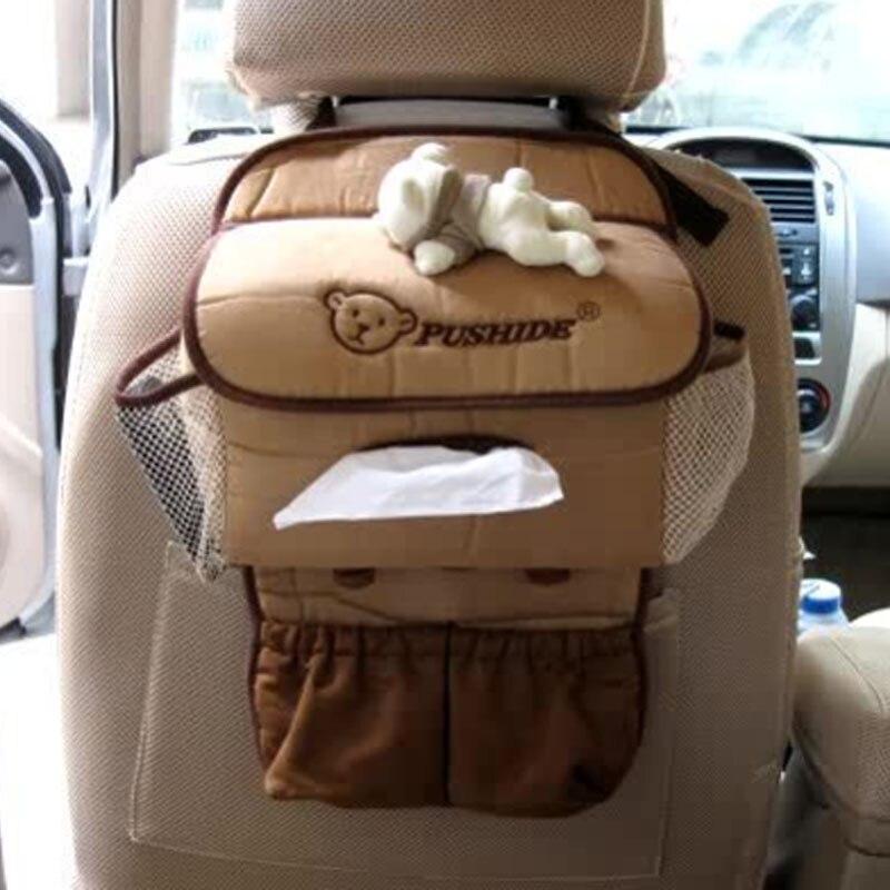 Car Accessories Cartoon Bear Cute Plush Car Tissue Box