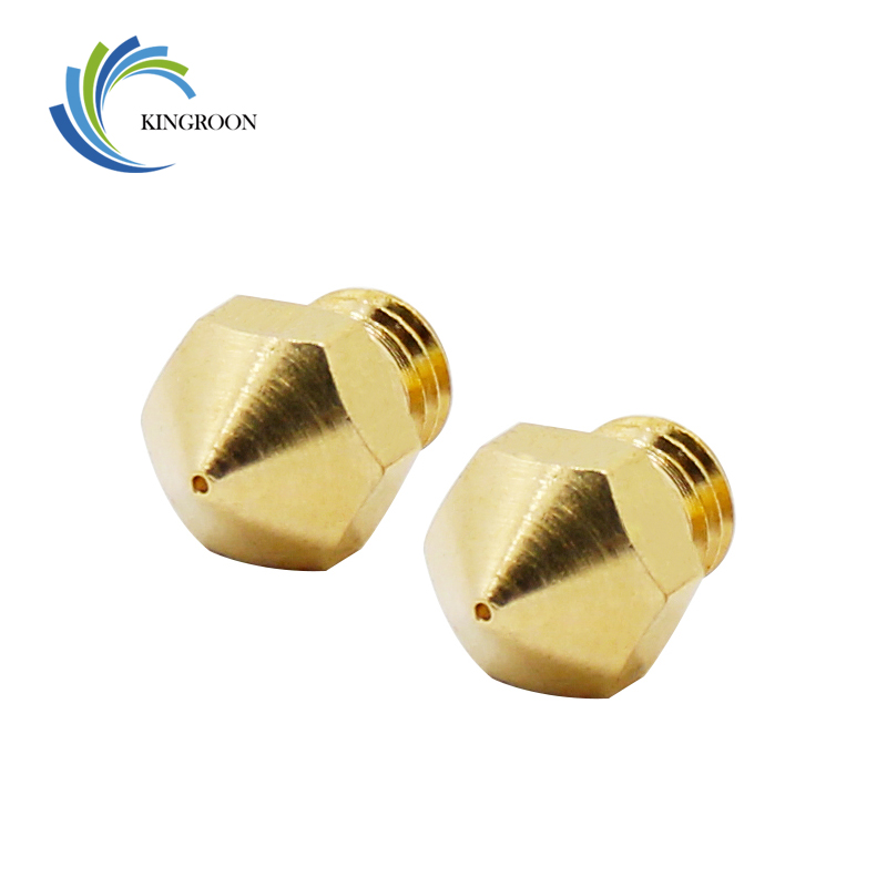 5pcs MK10 Nozzle Copper M7 Threaded Part For Extrusion 1.75mm Filament Brass