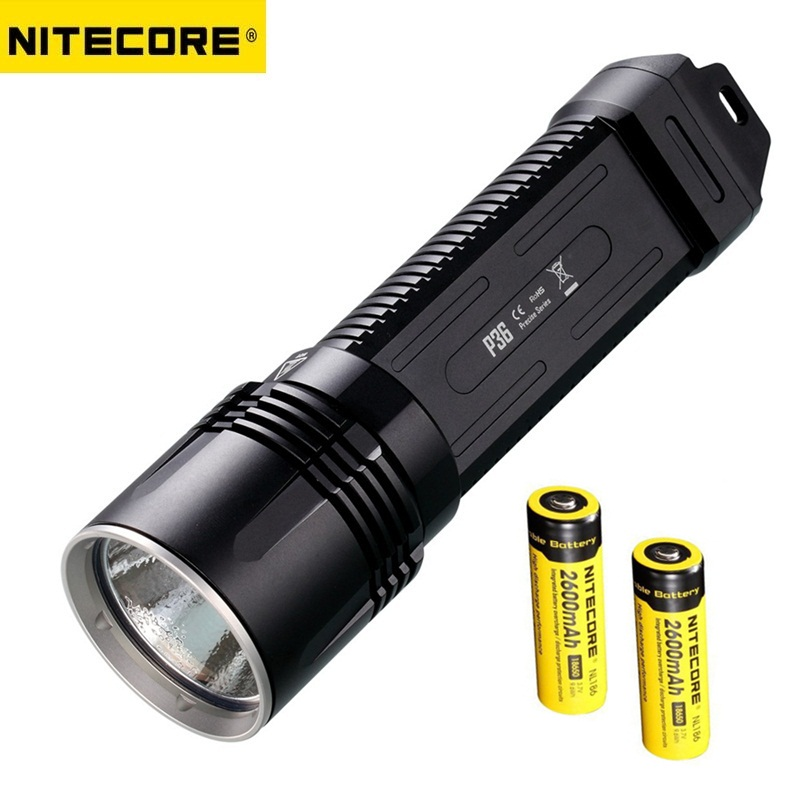 Nitecore P36 Tactical LED Flashlight CREE MT-G2 2000 lumens with 2 xNL186 Rechargeable 18650 Battery for Linternas new arrival nitecore ec4sw neutral white beam cree mt g2 led 2000 lumens 18650 handheld searchlight flashlight