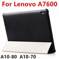Case For Lenovo A7600 Protective Smart Cover Leather Tablet For TAB A10 70 Ideatab A10 80