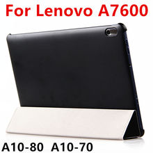 Case For Lenovo A7600 Protective Smart cover Leather Tablet For TAB A10-70 Ideatab A10-80 10.1 inch PU Protector Sleeve Case