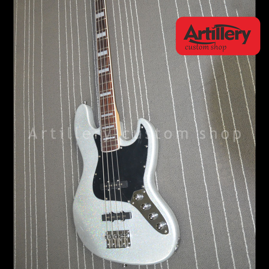 buy free shipping factory custom 4 strings jazz bass with sparkling paint. Black Bedroom Furniture Sets. Home Design Ideas