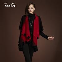 New Winter Autumn Rabbit Fur Coat Women Cardigan Knitted Plus Size Wool Poncho Cardigan Women Floral