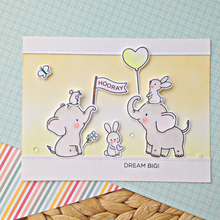 Dream Big Elephant Clear Silicone Stamp DIY Scrapbooking Card Album Making Background Craft Handmade Decoration Template lovely unicorn clear silicone stamp diy scrapbooking card album making background craft handmade decoration template
