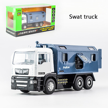 1:50 Engineering vehicle Alloy Pull Back Diecast Model car with sound light Collection Gift toys for children Boys birthday gift