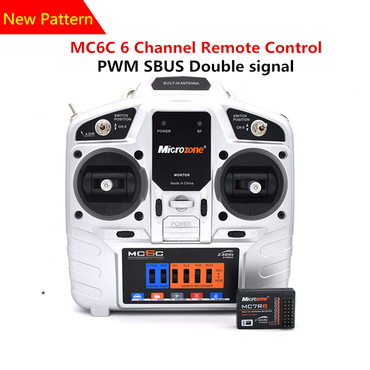 все цены на MC6C Model Aircraft Remote Control 2.4G Receiver With Fixed Wing Aircraft Through The 4 Axis KT Board Machine онлайн
