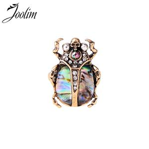 JOOLIM Jewelry Wholesale/ Beetle Skull Statement Big Ring