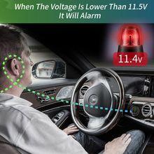 2019 Waterproof Motorcycle Boat Car DC 12V 24V 30V LED Voltmeter Display Voltage Meter with ON OFF Switch Low Voltage Alarm
