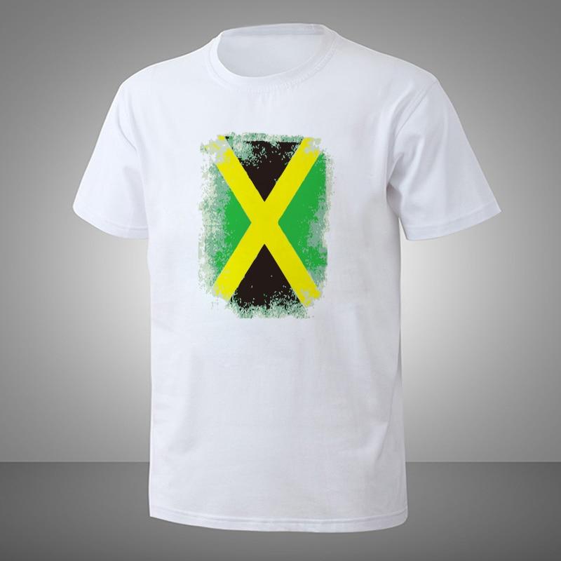 Ali d'été T Chemises Hop Fier Drapeau Jamaïcain-Jamaïque Fierté Nationale Grandes Tailles Haute Qualité blanc Hommes