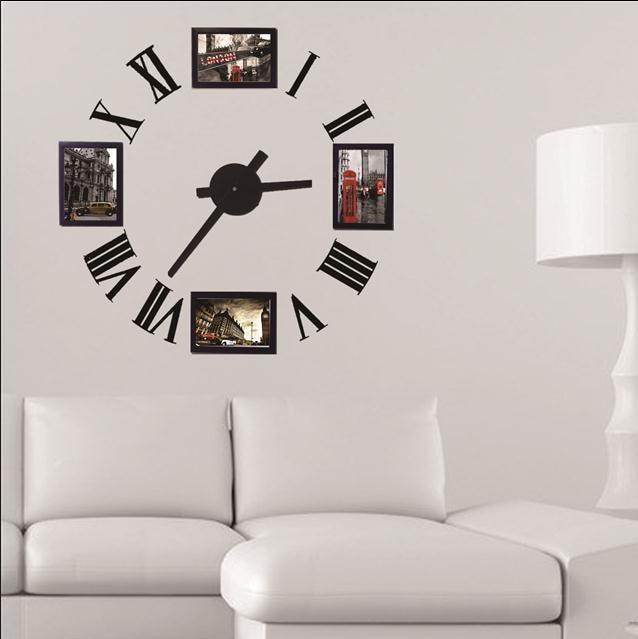 Photo Frame Wall Clock Modern Designrome Number Decorative Designer