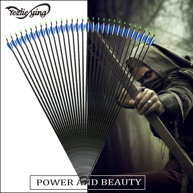24pcs 84cm High Quality Glass Fiber Archery Compound Bow or Longbow Hunting with Flexible Replaceable Arrow Training in Bow Arrow from Sports Entertainment