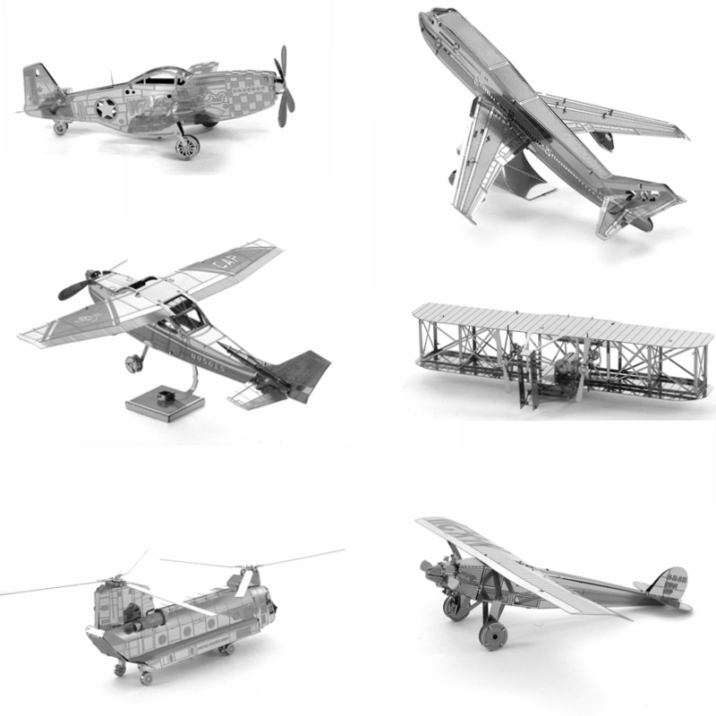 3d diy Metal Puzzle Fighter Aircraft Model For Adult Air Force Equipment Helicopter Airplane Building Model Kids Toys Gifts