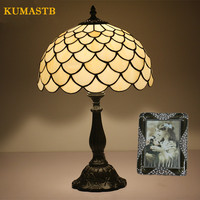 2019 Tiffany Stained Glass Lamp Vintage Table Lamp Bedroom Bedside Lamps European Bar Cafe Dimming Table Light