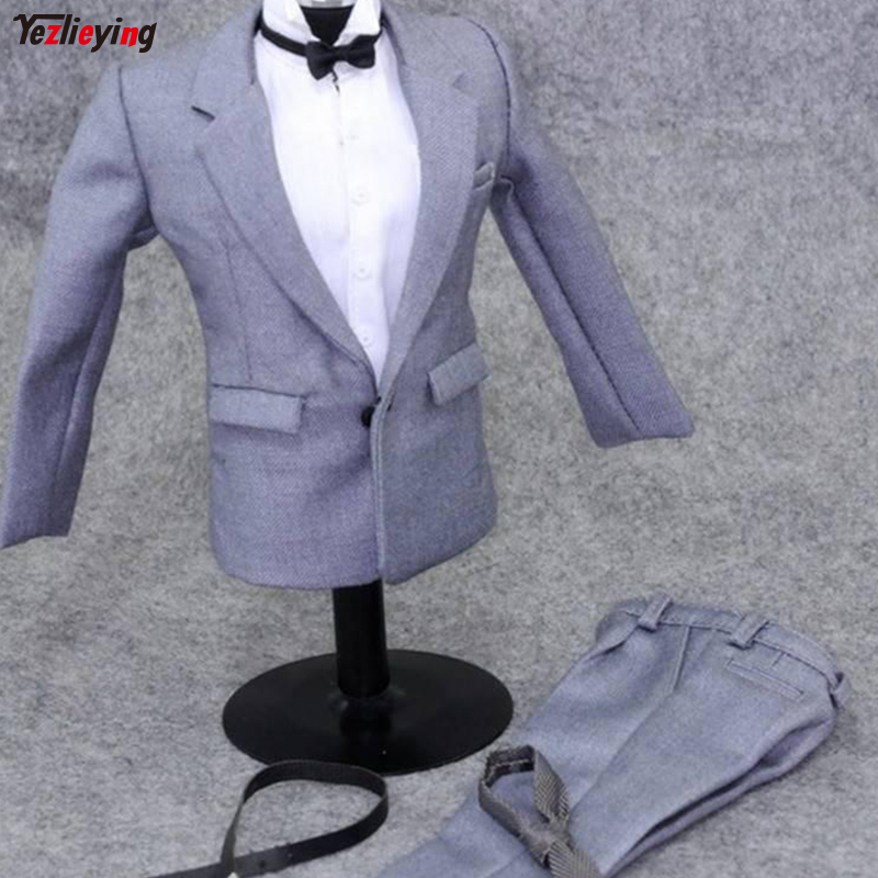 ZYTOYS ZY4841 1/6th Scale Gray MAN DRESS with White Shirt for 12 Collectible Movie Character Clothes Action Figure DIY