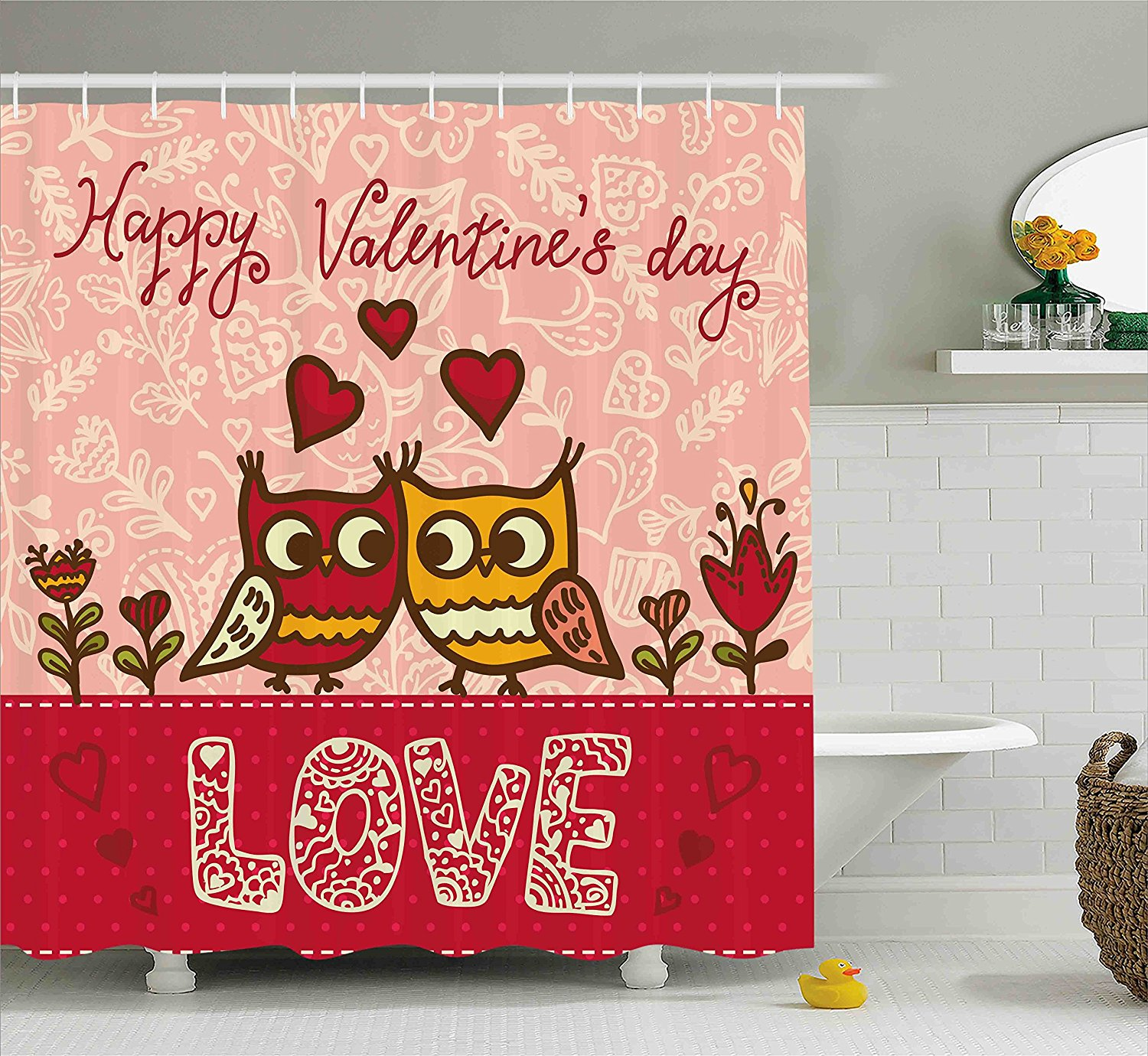 WARM TOUR Valentines Day Owls in Love Fasiion Shower Curtain Polyester  Curtain Hotel/Bathroom With - Online Get Cheap Valentine Shower Curtains -Aliexpress.com