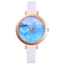 8ce7efded21 Relojes pulsera de reloj de las señoras Relogio Feminino Dourado cuero del  cuarzo de las mujeres reloj mujer reloj pequeño elega.