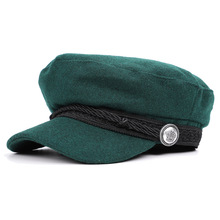 Sun HatS Cotton Trucker Caps Women Cap Embroidery Snapback Summer Mesh Yacht Captain Female skipper sailor Military Hat 5Color