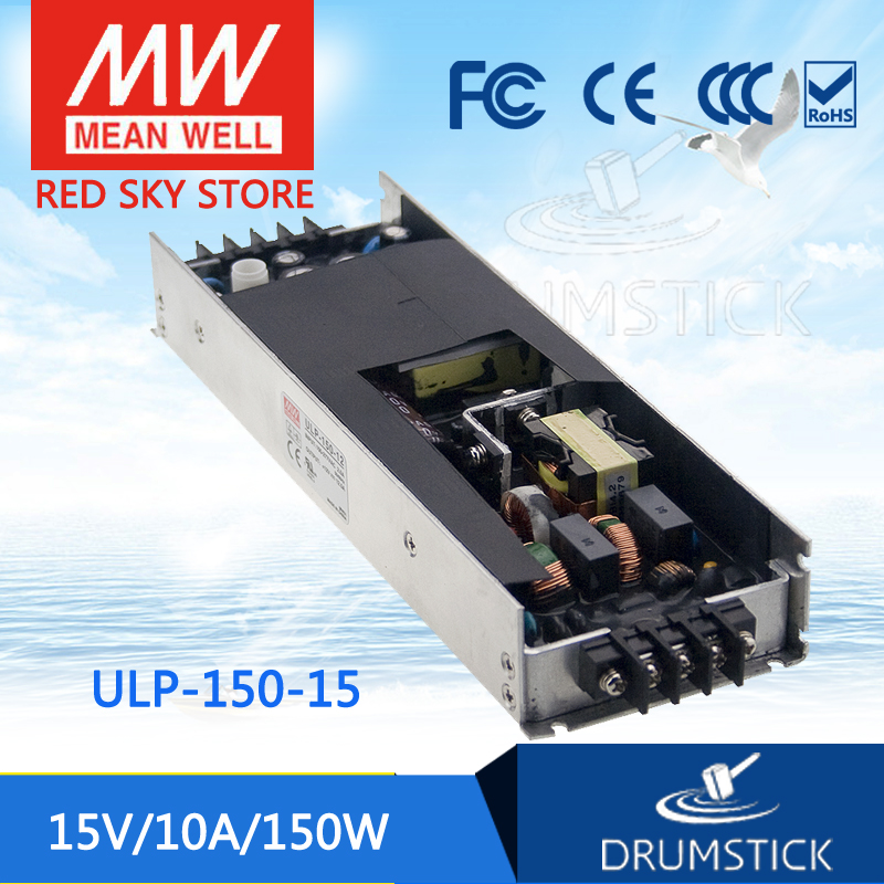 Genuine MEAN WELL ULP-150-15 15V 10A meanwell ULP-150 15V 150W U-Bracket with PFC Function Power Supply [mean well1] original epp 150 15 15v 6 7a meanwell epp 150 15v 100 5w single output with pfc function