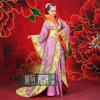 Quality Beautiful Women Ancient Costume Chinese Folk Dance Stage Wear Traditional  Costumes Dress Hanfu bridal wear clothes