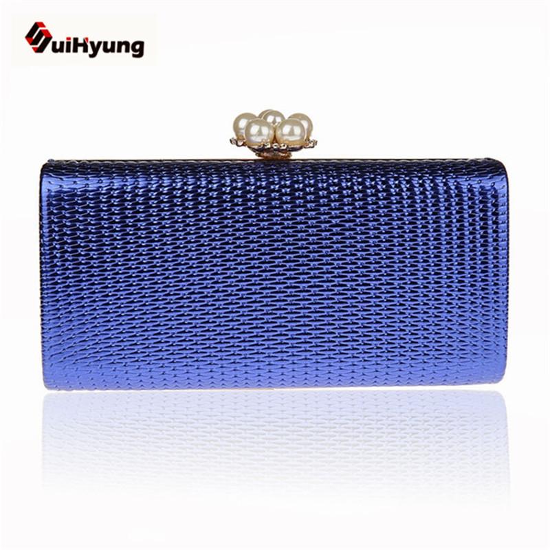 New Women PU Leather Clutch Fashion Pearl Buckle Hard Box Evening Bag Wedding Party Handbags Purse Crossbody Chain Shoulder Bag naivety new fashion women tassel clutch purse bag pu leather handbag evening party satchel s61222 drop shipping