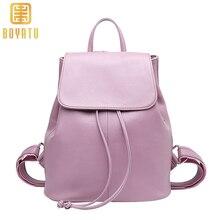 рюкзак женский кожаный рюкзак школьный для девочки мода 2018 женские сумки Высокое качество женский рюкзак из натуральной кожи элегантный рюкзак розовый