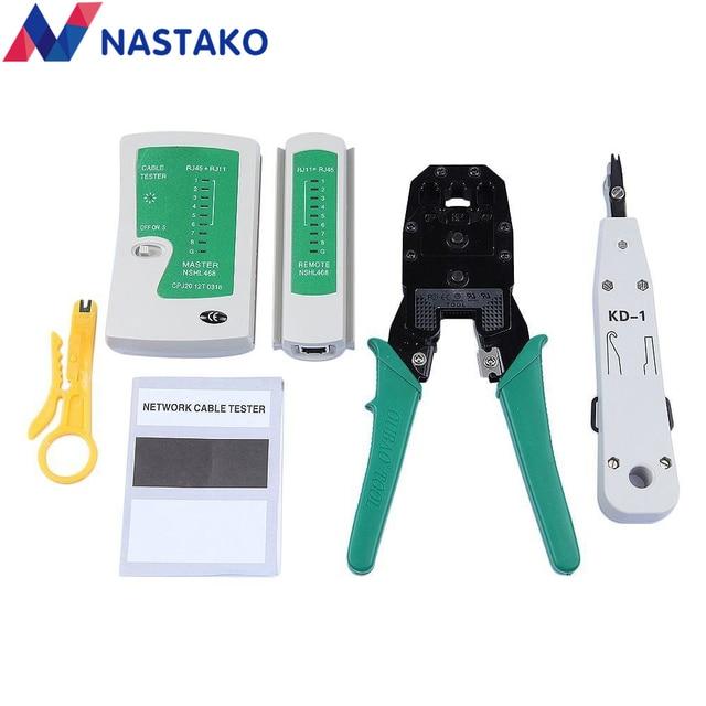 NASTAKO Network Ethernet Cable Tester RJ45 Kit RJ45 Crimper Crimping ...