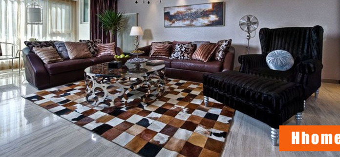 Square Cowhide Rug Uniquely Modern Rugs