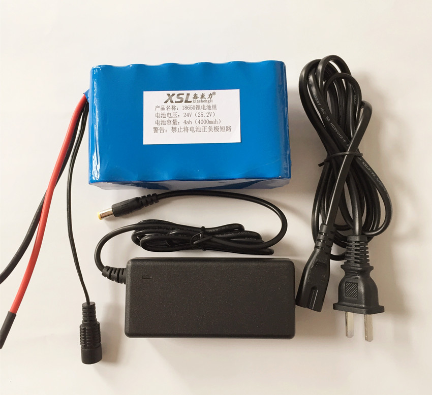 ФОТО 24V 4Ah 6S2P 18650 Battery li-ion battery 25.2v 4000mah electric bicycle moped /electric/lithium ion battery pack+1A Charger