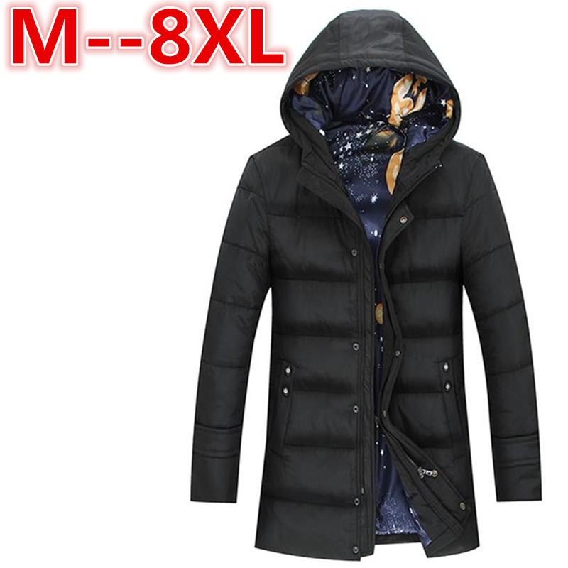 Plus size 10XL 8XL 6XL Winter Parka Men Jacket Coat Outerwear Fashion Hood Padded Quilted Warm Male Jackets Hooded Casual Wadde clothing mens winter jackets coat warm men s jacket casual outerwear business medium long coat men parka hooded plus size xxxl