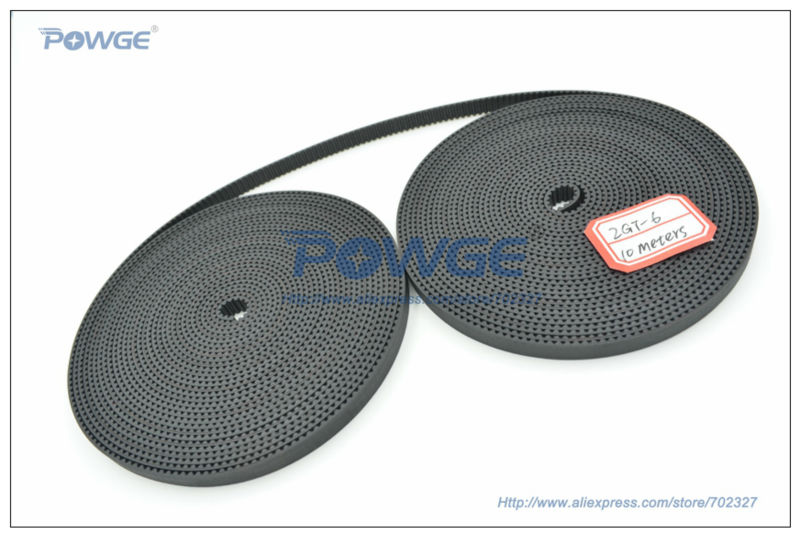 10Meters GT2 timing belt  wide 6mm Rubber 2GT-6mm Small Backlash for 3d printer RepRap Mendel CNC 2GT belt pulley High Quality