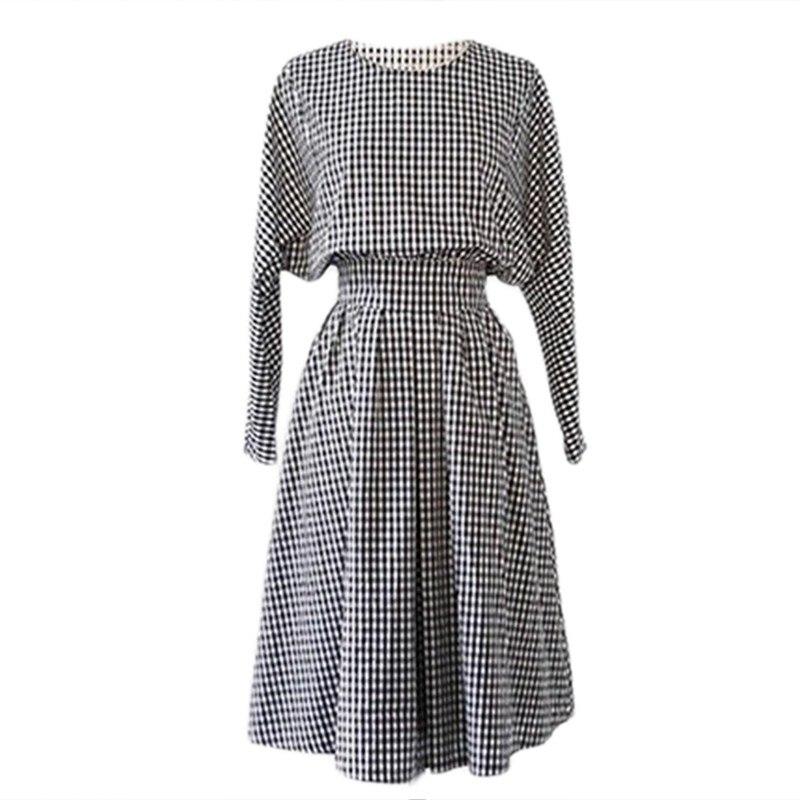 Women / Girls Female Spring Models College Wind Retro Loose long-sleeved Autumn Dress