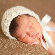 Купить с кэшбэком Crochet Baby Newborn Bonnet, Pixie Bonnet, Photo Prop, Photography Prop- Also Available In Other Colors
