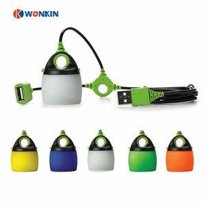 Usb alimentado led portátil lanterna tenda luz de acampamento à prova dmini água mini lâmpada ao ar livre luz usb chainable