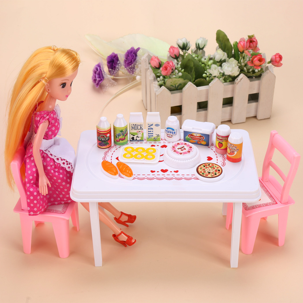 Baby Kids Doll Toys Set Party Dinner Table Chair with Drinks Foods Children Classic Toys Pretend Play Funny Toys -in Dolls from Toys u0026 Hobbies on ...  sc 1 st  AliExpress.com & Baby Kids Doll Toys Set Party Dinner Table Chair with Drinks Foods ...
