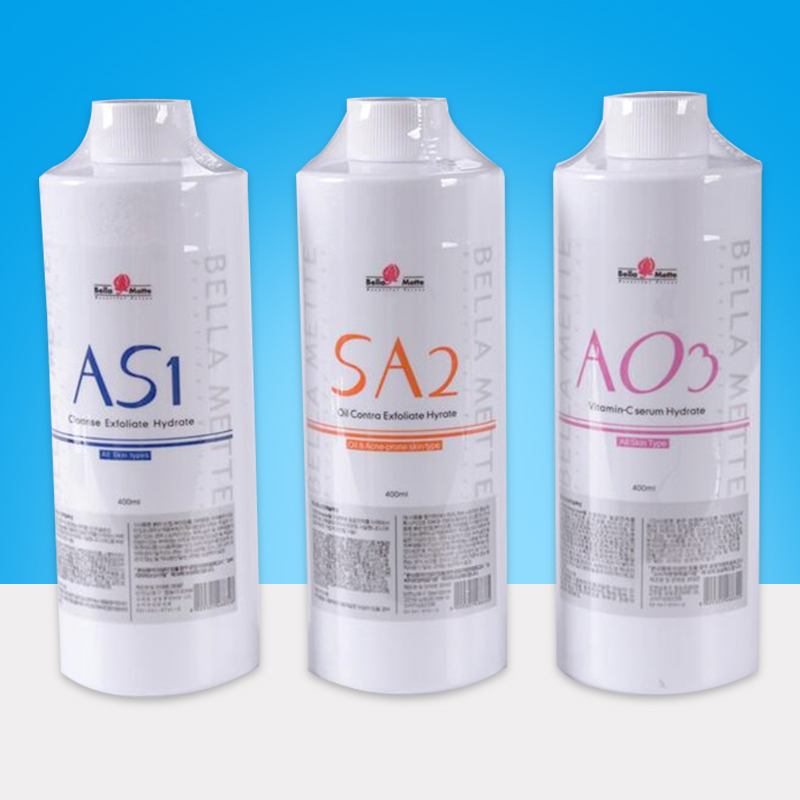AS1 SA2 AO3 Aqua Peeling Solution 400ml Hydra Water Dermabrasion Face Clean Facial Serum For Normal Skin
