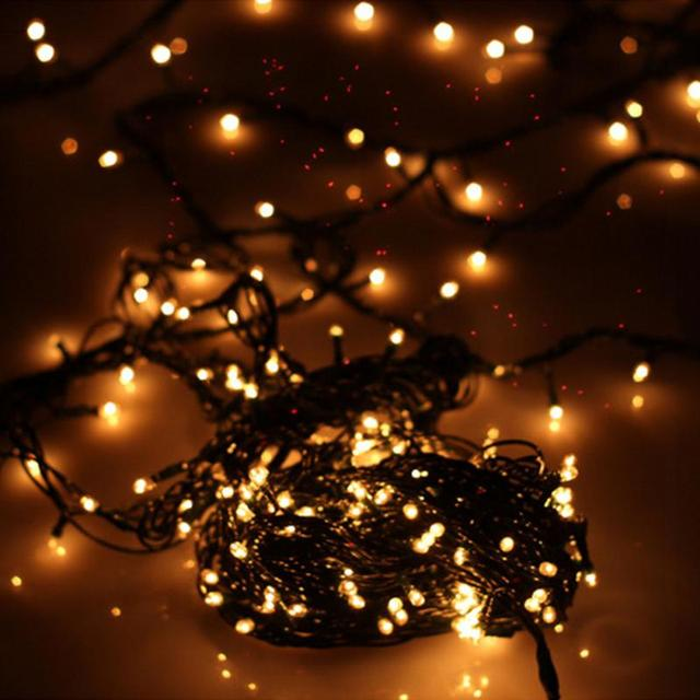 exquisite lighting. 100 Small Bubble High Light Christmas Decoration Decorative Exquisite String Lamp Holiday Party New Year Lighting C