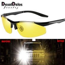 Car Night Vision Driver Goggles Polarized Sunglasses Unisex HD Vision Sun Glasses Eyewear UV Protection Car Driving Glasses цена в Москве и Питере