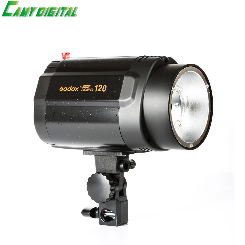 Godox Mini studio Flash strobe 120 Max Power 120WS Universal Digital Mount GN38 Recharging Time 0.5-2s For Photo accessories godox mini studio flash strobe 160 max power 160ws universal digital mount gn43 recharging time 0 5 2s for photo accessories