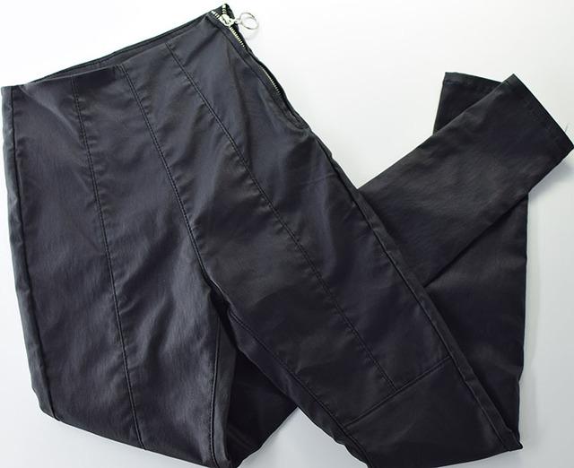 2019 Jeans Women Slim Body Skinny Jeans Woman High Waist Pu Leather Jeans Femme Mujer Women Black Sexy Pencil Jeans Pants