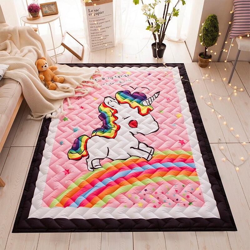 Alfombra de unicornio alfombra acolchada alfombra gruesa Tatami tapete para niños sala de juegos alfombra de gateo alfombras rectangulares y alfombras para el hogar sala de estar